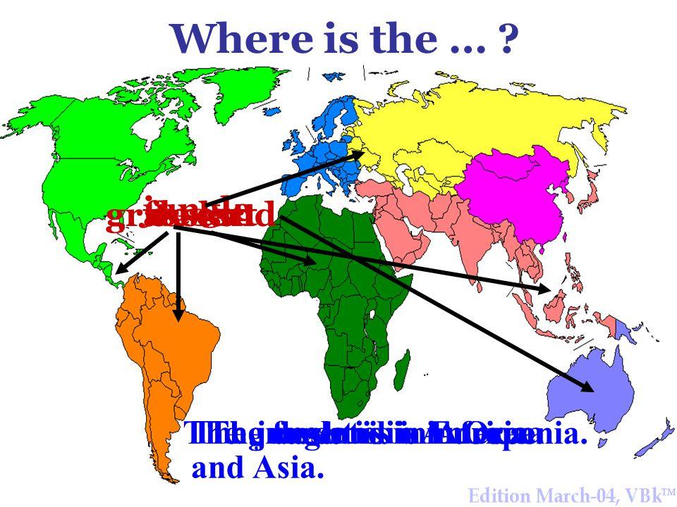 Do you know them.n.adj. Asia Africa America Europe Oceania n.adj.