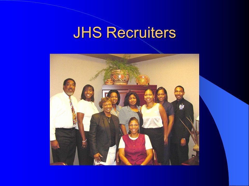 JHS Recruitment: Ended March 31, 2004 TOTAL Recruited: 5302