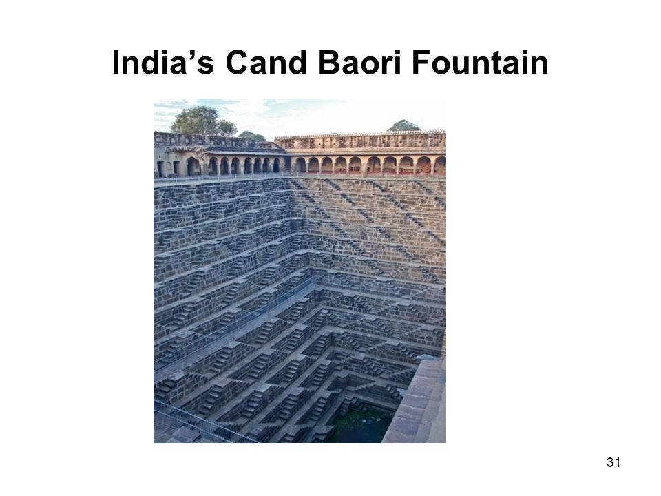 India's Cand Baori Fountain 31