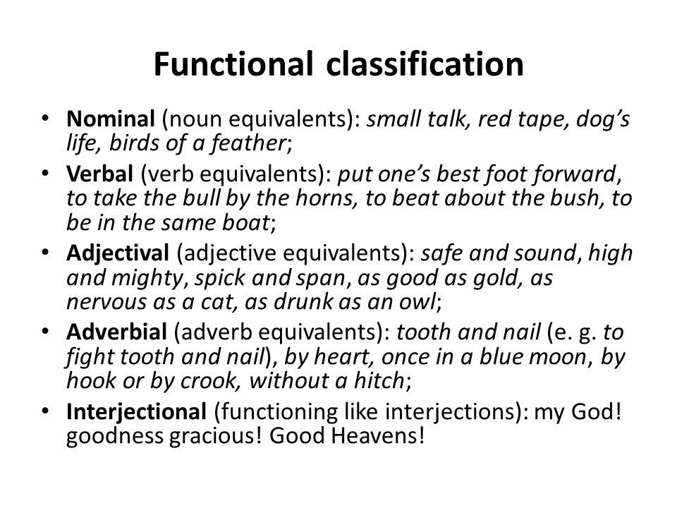 Semantic classification (V.V.
