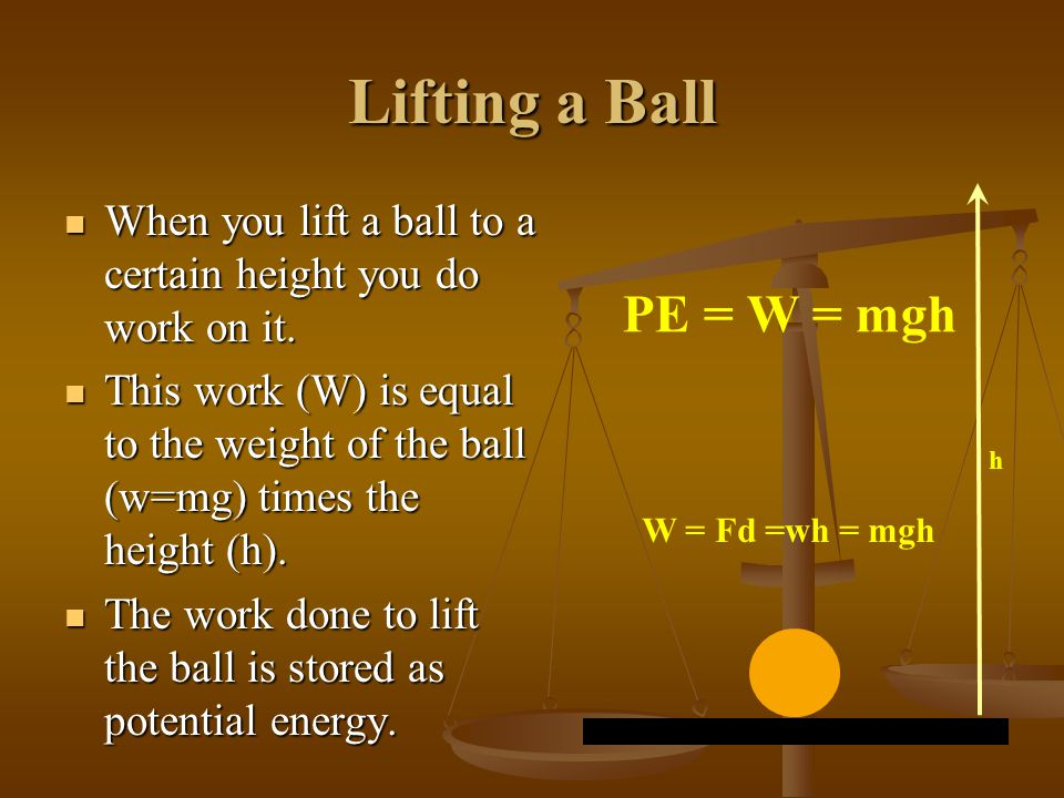 When you are calculating the potential energy of an object, all you need to know is the mass and height of the object. How the object gets to the heig