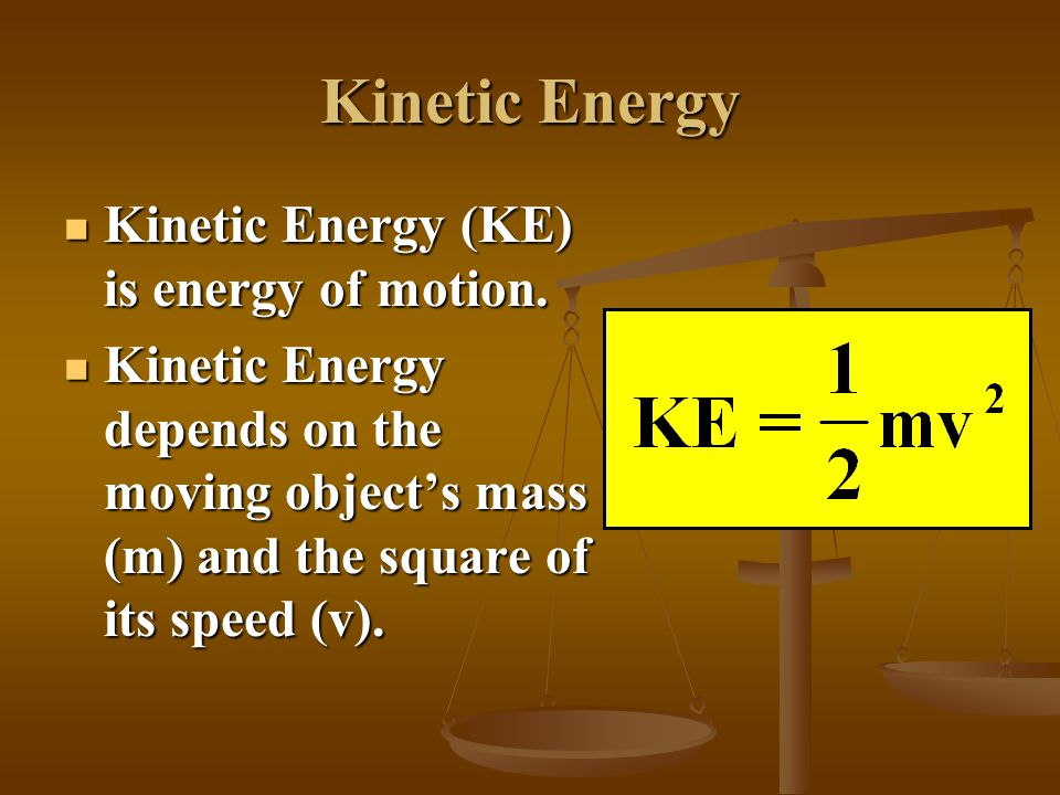 Lifting a Ball The ball now has potential energy stored in it. The ball now has potential energy stored in it. This means the ball has the potential t