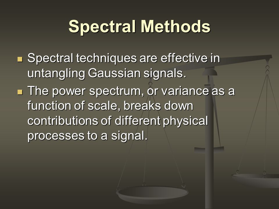 Conclusion One point measures detect non-Gaussianities, but provide limited information about the signal.