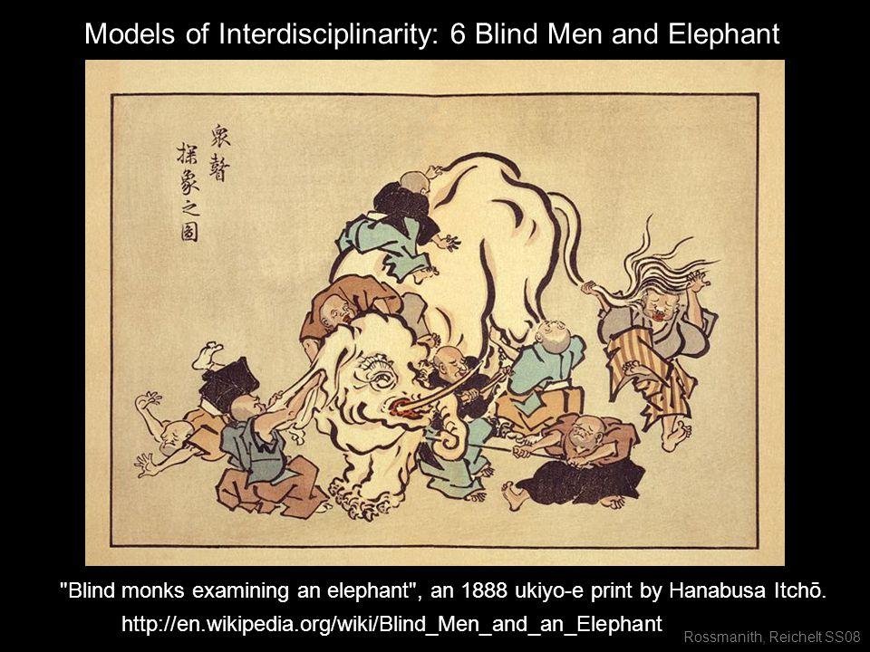 Rossmanith, Reichelt SS08 http://en.wikipedia.org/wiki/Blind_Men_and_an_Elephant Blind monks examining an elephant , an 1888 ukiyo-e print by Hanabusa Itchō.
