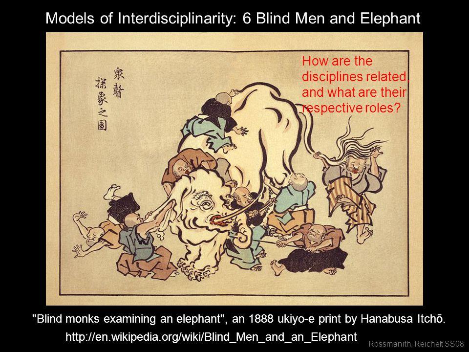 Rossmanith, Reichelt SS08 Blind monks examining an elephant , an 1888 ukiyo-e print by Hanabusa Itchō.