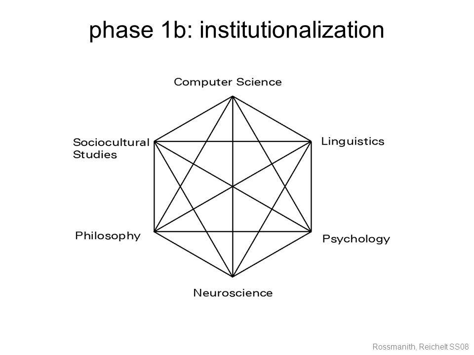 Rossmanith, Reichelt SS08 phase 1b: institutionalization