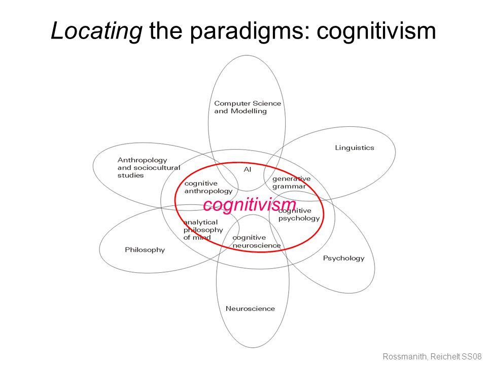 Rossmanith, Reichelt SS08 Locating the paradigms: cognitivism cognitivism
