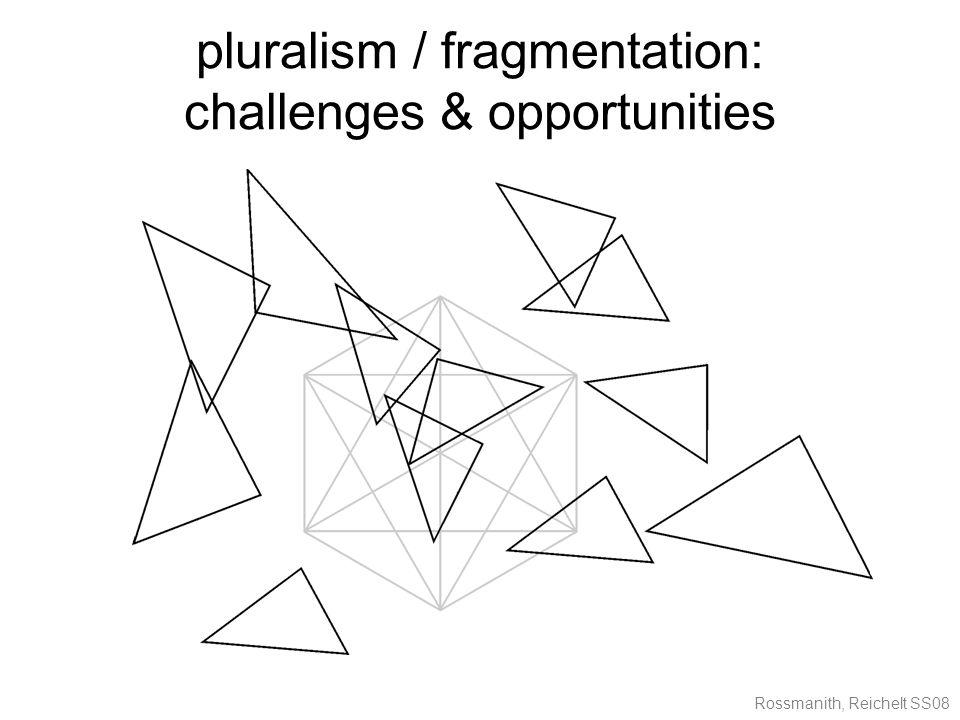 Rossmanith, Reichelt SS08 pluralism / fragmentation: challenges & opportunities