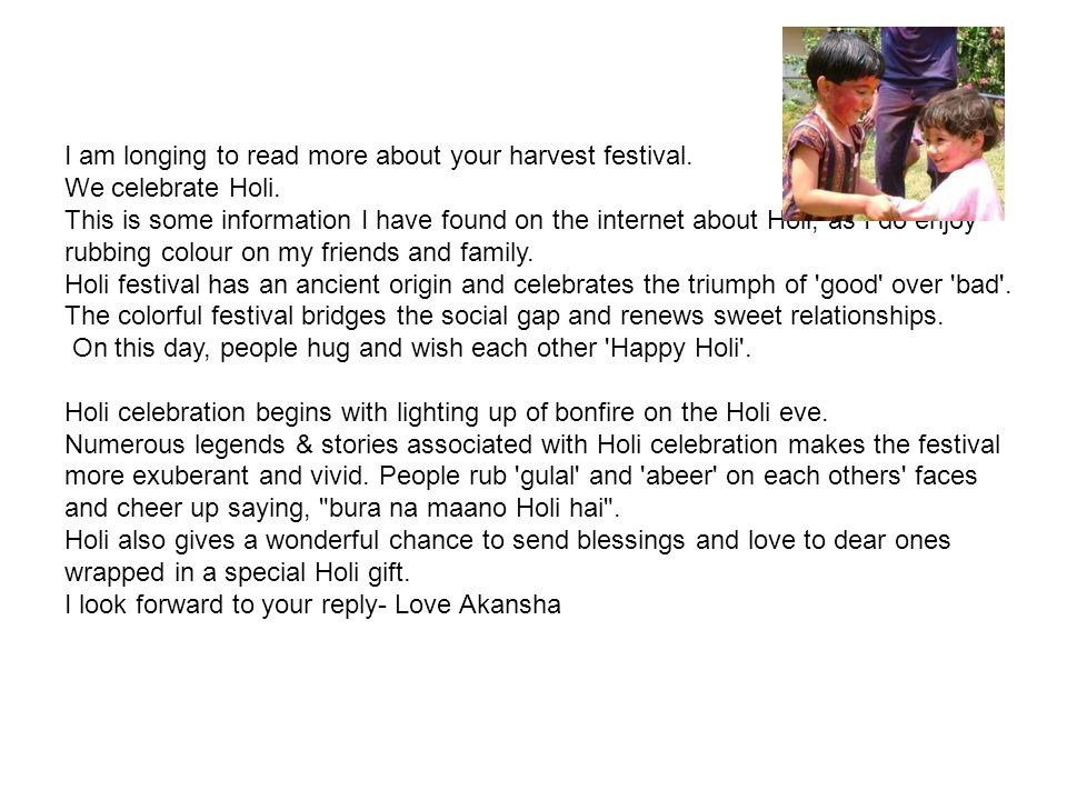 I am longing to read more about your harvest festival.
