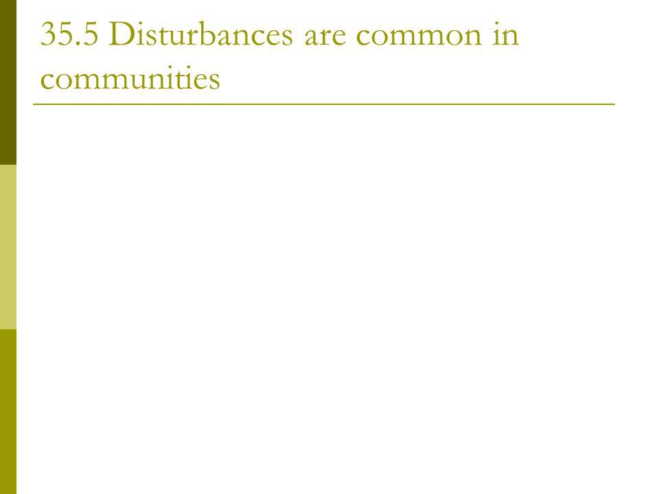 35.5 Disturbances are common in communities