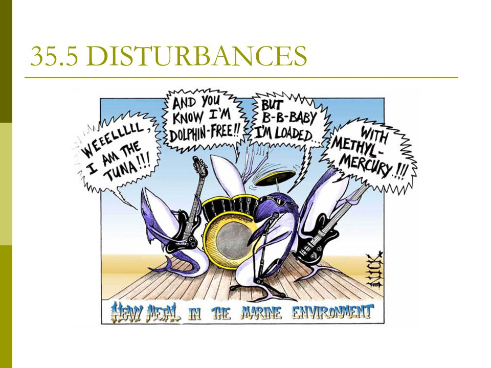 35.5 DISTURBANCES