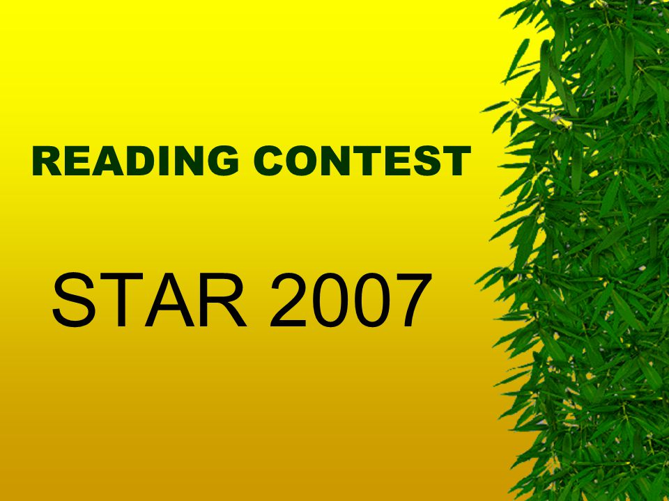 READING CONTEST STAR 2007
