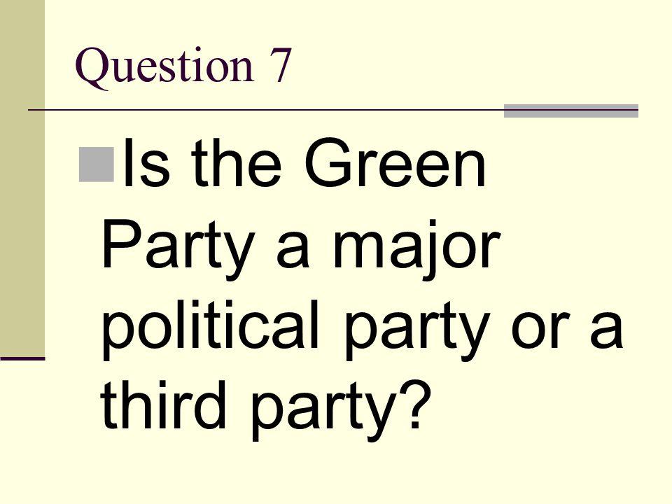Answer 6 Ralph Nader