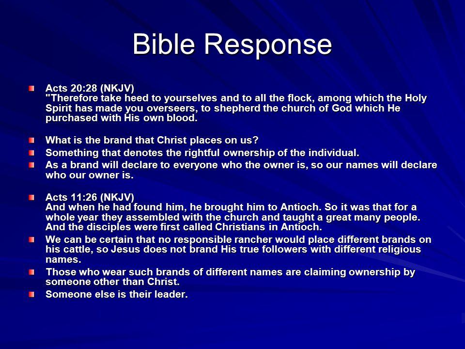 Bible Response Acts 20:28 (NKJV)
