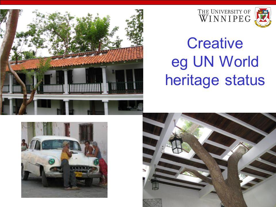 Creative eg UN World heritage status