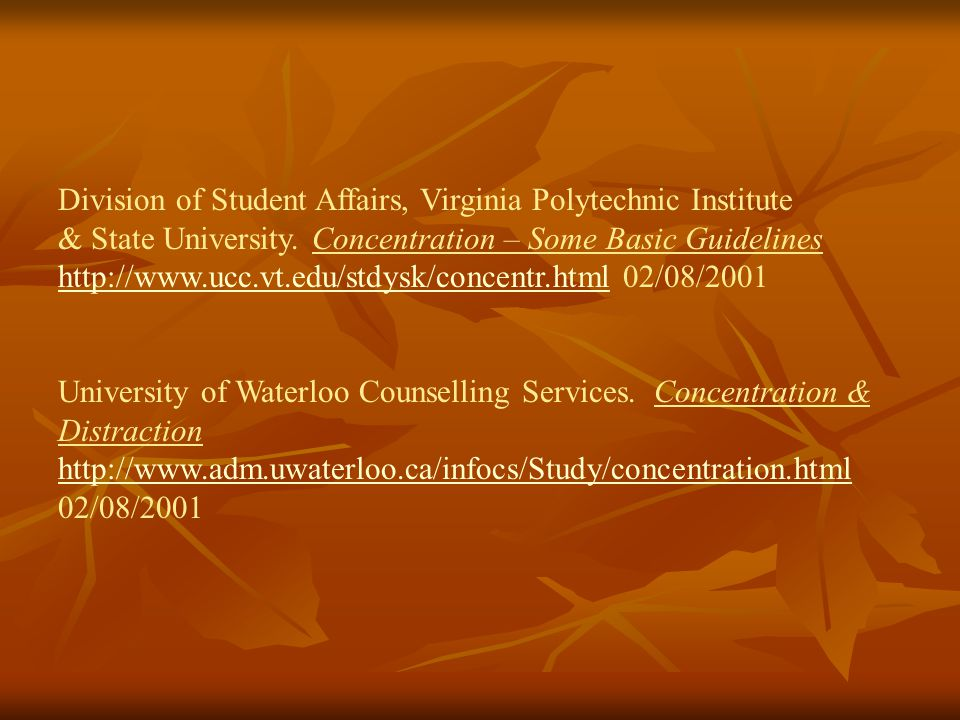 Division of Student Affairs, Virginia Polytechnic Institute & State University.