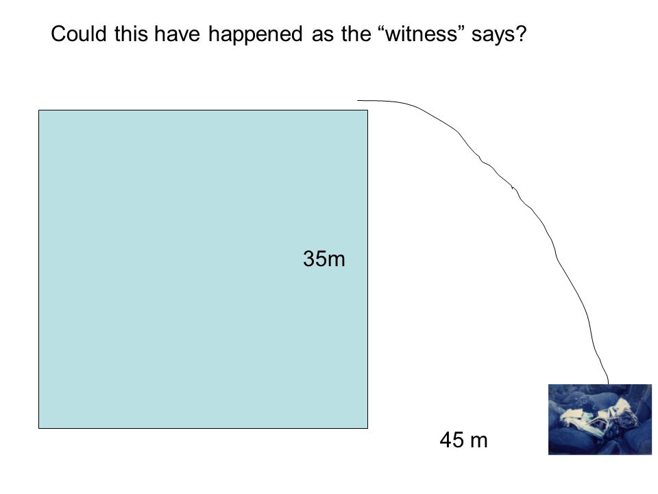 35m 45 m Could this have happened as the witness says
