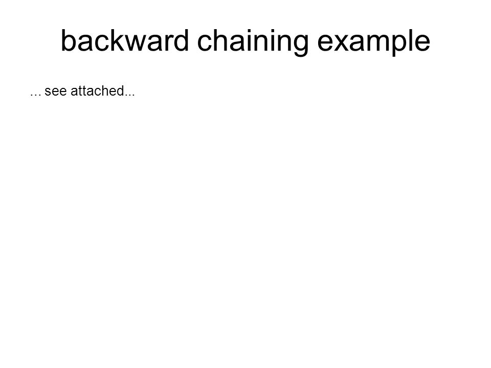 backward chaining example... see attached...