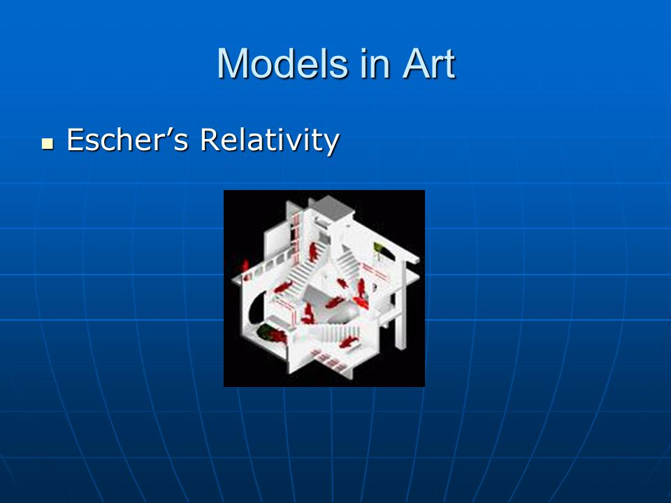 Models in Art Escher's Relativity Escher's Relativity