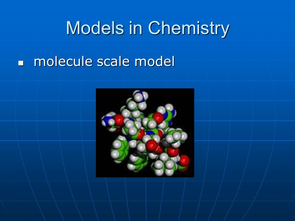 Models in Chemistry molecule scale model molecule scale model