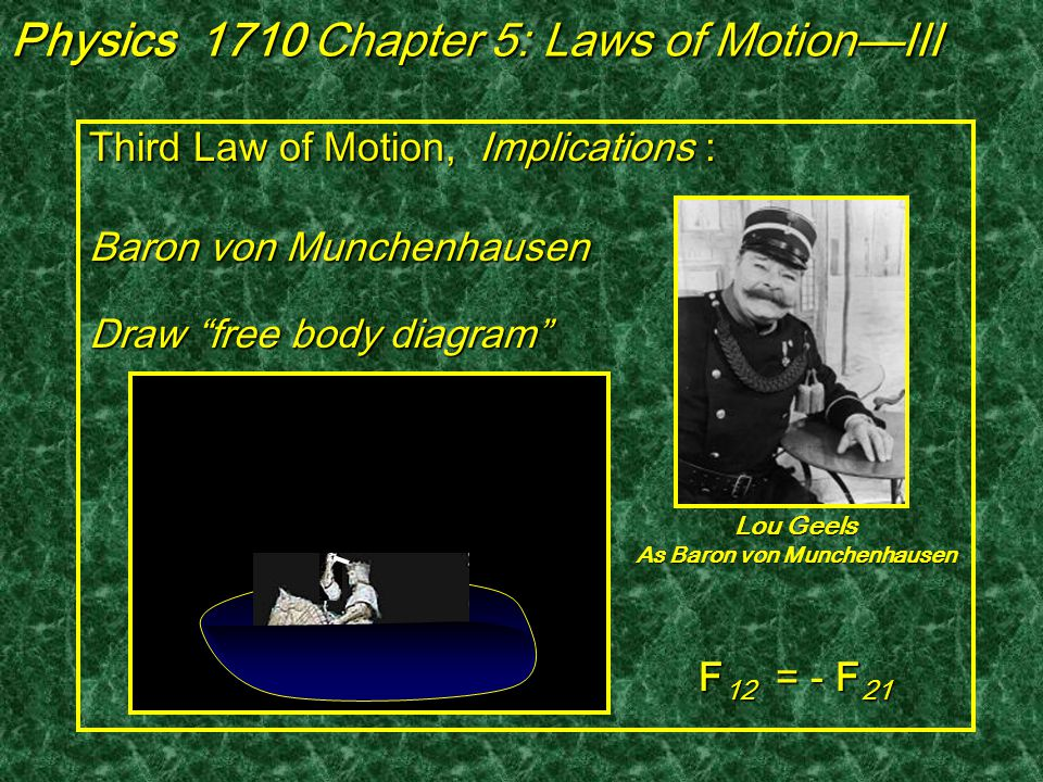 3 rd Law in Action—Tug of War Physics 1710 Chapter 5: Laws of Motion—III .