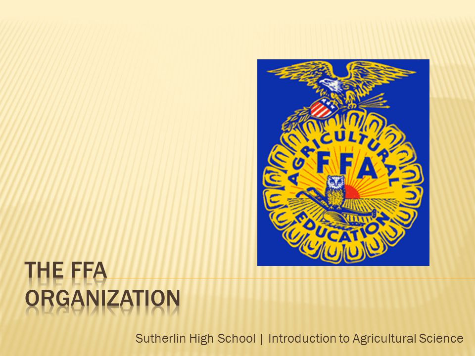 Sutherlin High School | Introduction to Agricultural Science