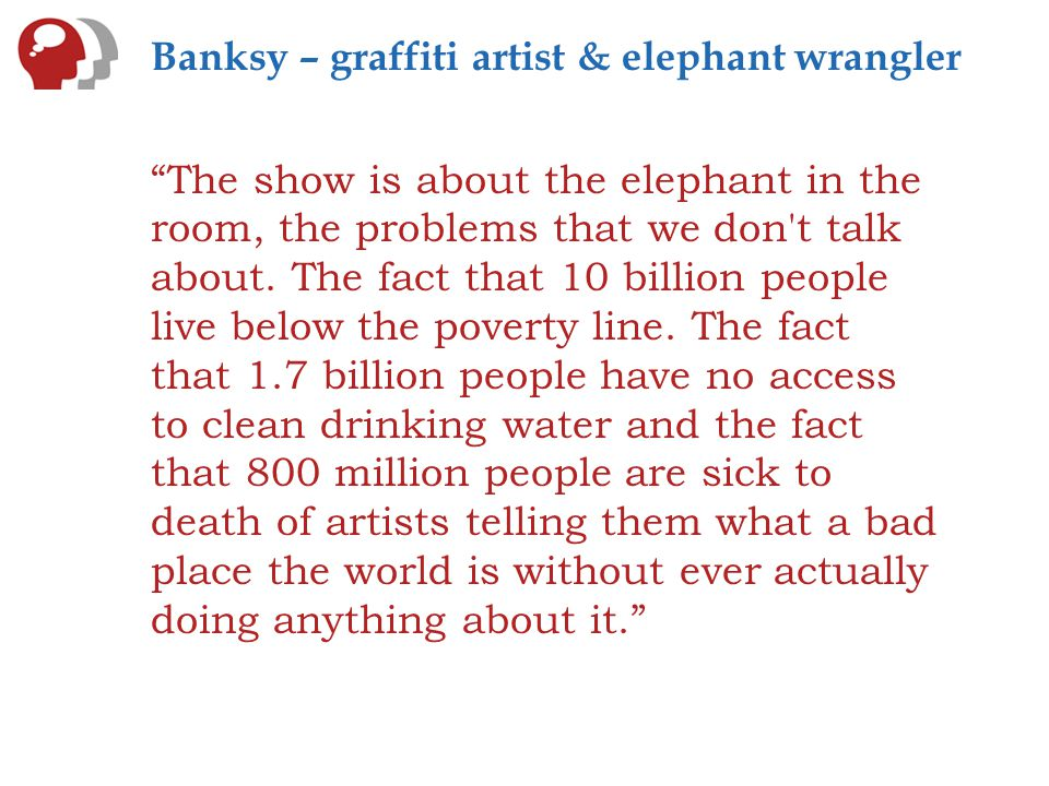 Don't think of an elephant…