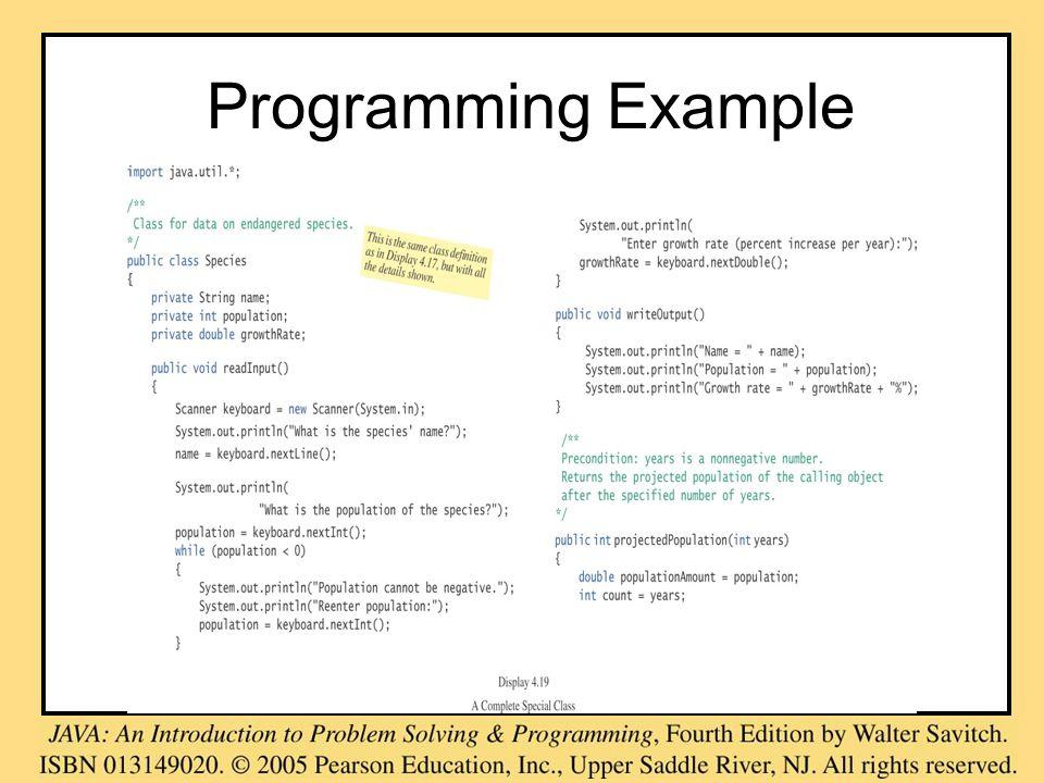 Programming Example