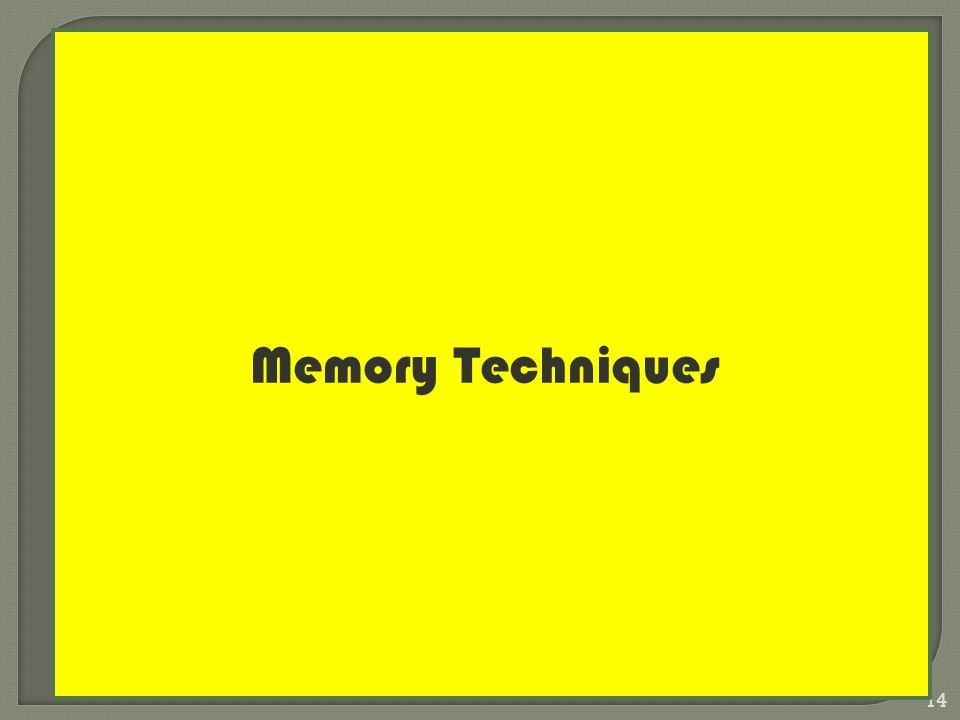 rgzaini@gmail.com 14 Memory Techniques