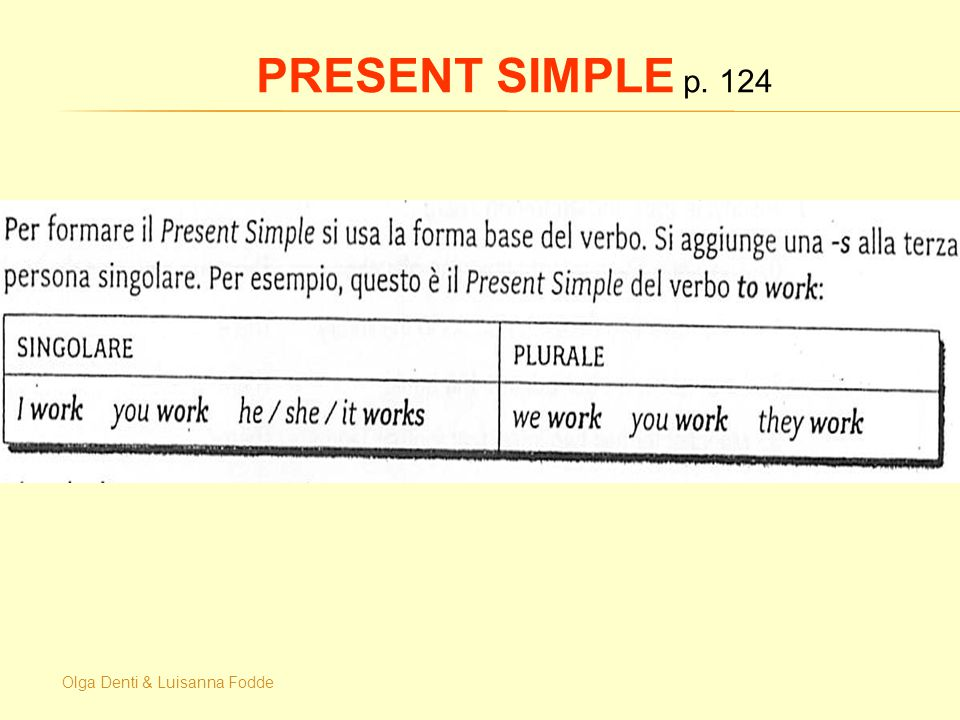Olga Denti & Luisanna Fodde PRESENT SIMPLE p. 124