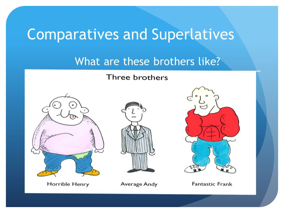 Comparatives and Superlatives What are these brothers like.