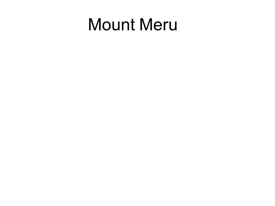Mount Meru Above the Tavatimsa heaven are the higher Deva and Brahma realms.