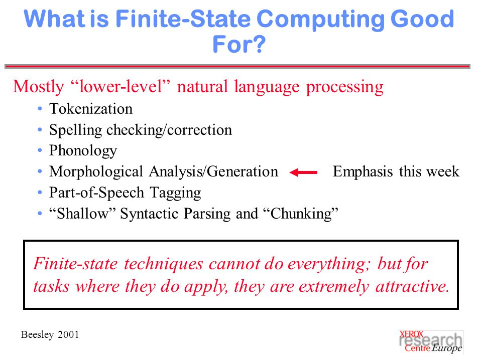 Beesley 2001 What is Finite-State Computing Good For.