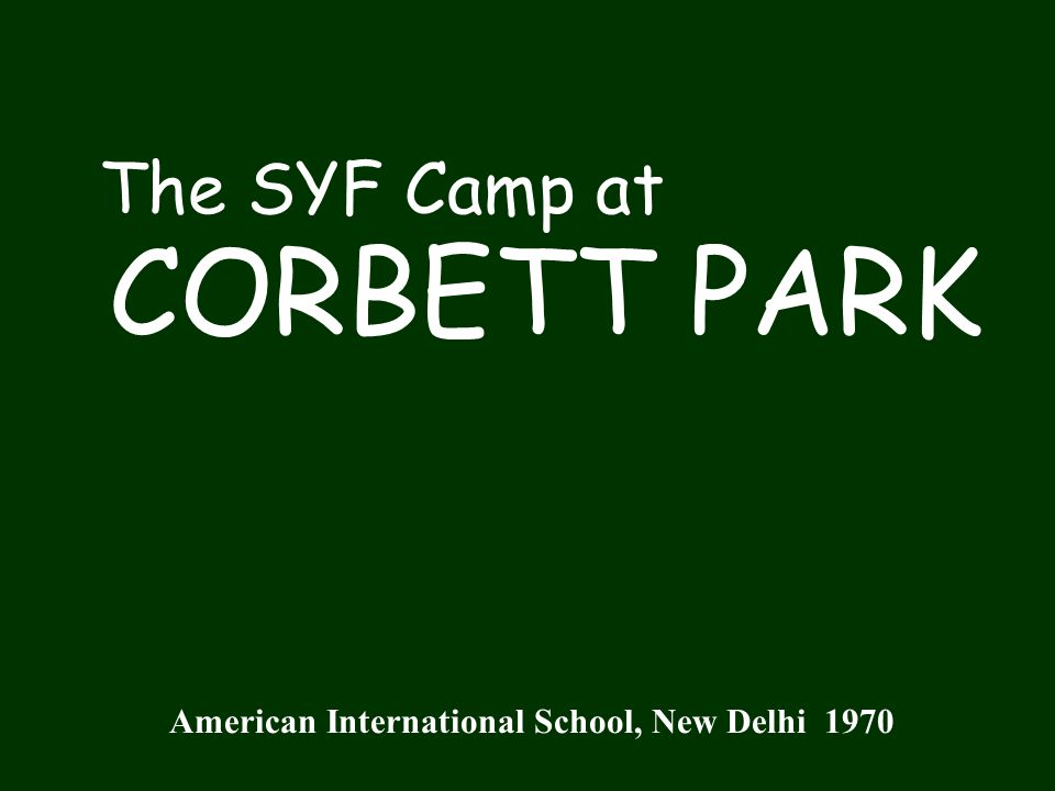 The Spring SYF Trip was to Corbett Park with its abundant wildlife.