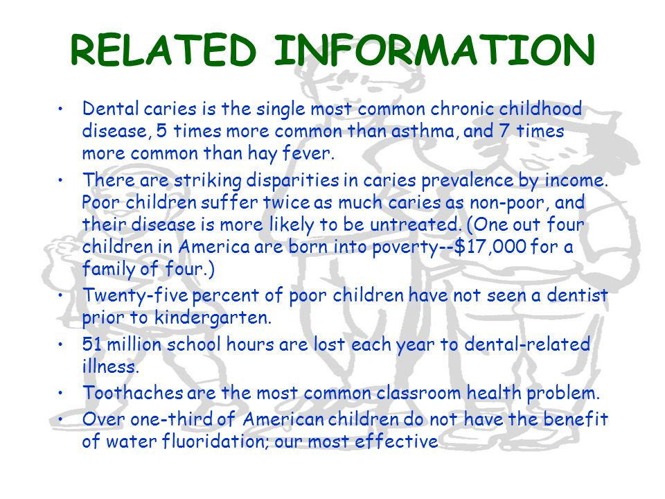 EARLY CHILDHOOD CARIES (NURSING CARIES) 5-10% children have Early Childhood Caries (ECC), sometimes called nursing (or bottle) caries; the rate is even higher among families with low incomes, and among racial/ethnic minorities.