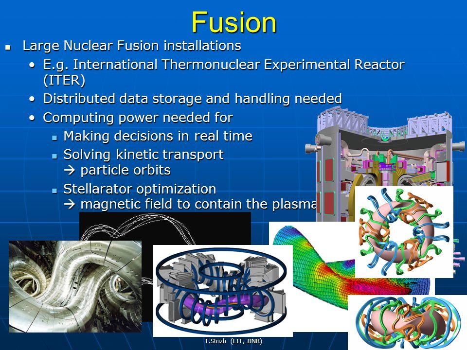 T.Strizh (LIT, JINR) 20Fusion Large Nuclear Fusion installations Large Nuclear Fusion installations E.g.