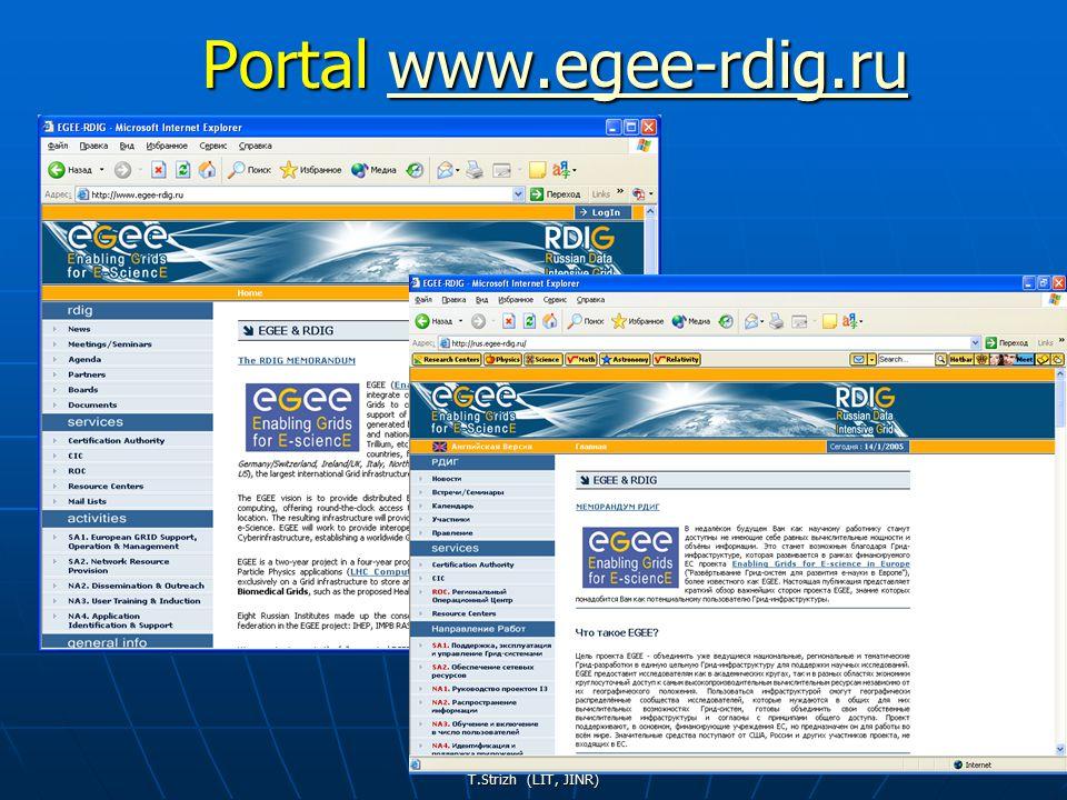 T.Strizh (LIT, JINR) 35 Portal www.egee-rdig.ru www.egee-rdig.ruwww.egee-rdig.ru