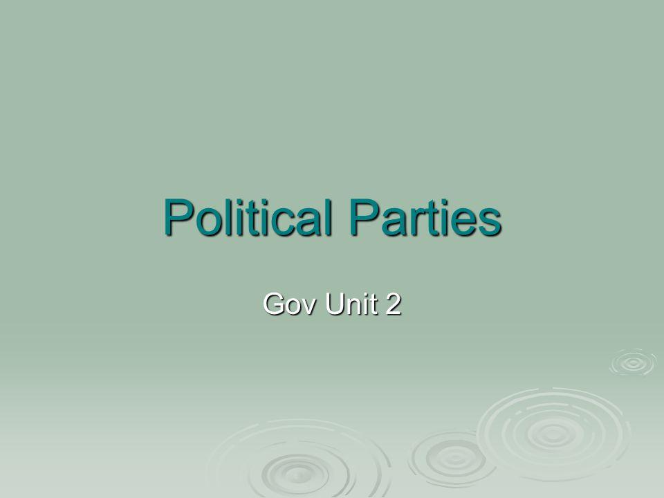 Political Parties Gov Unit 2