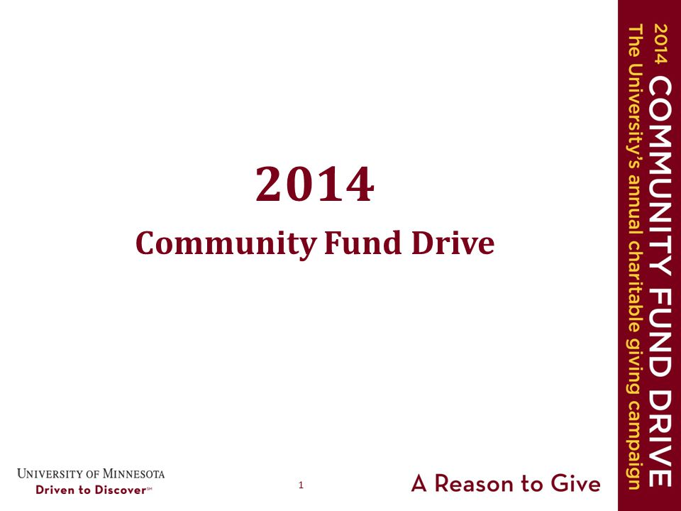 1 2014 Community Fund Drive