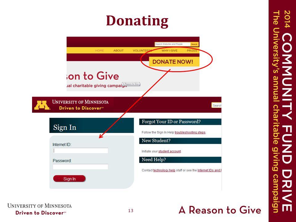 13 Donating