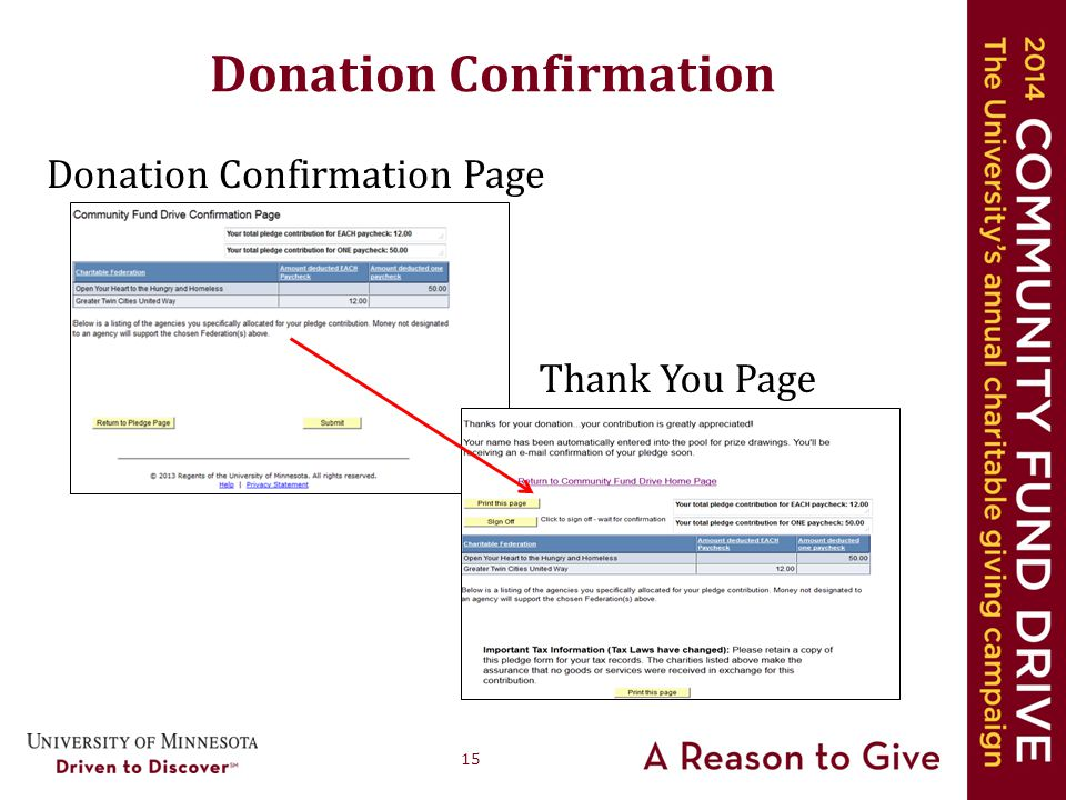 15 Donation Confirmation Donation Confirmation Page Thank You Page