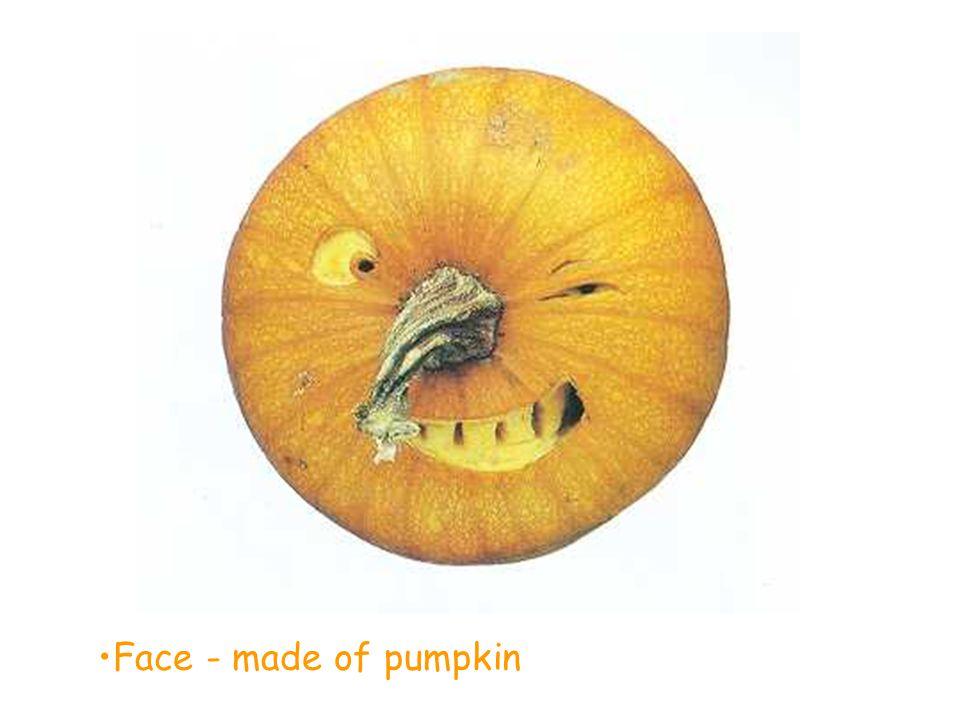 Face - made of pumpkin