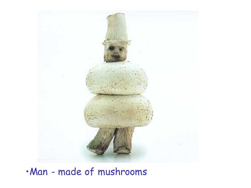Man - made of mushrooms