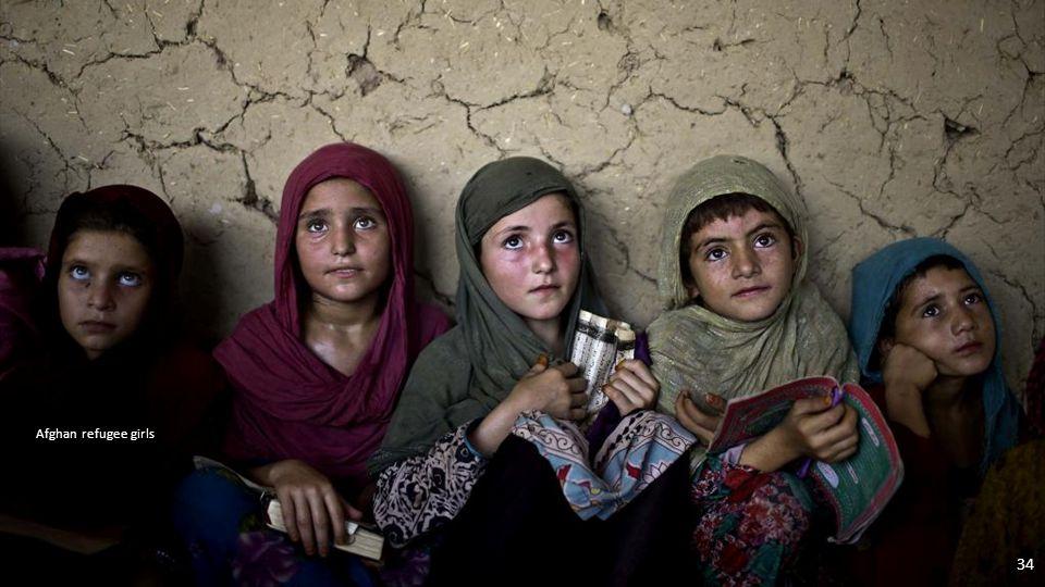 An Afghan refugee girl 33