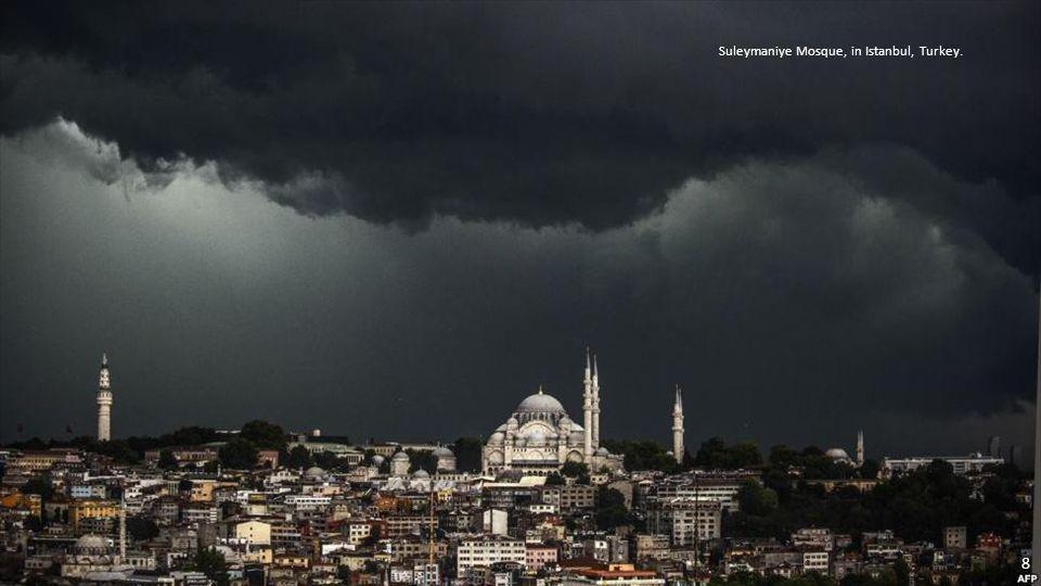 Suleymaniye Mosque, in Istanbul, Turkey. 8