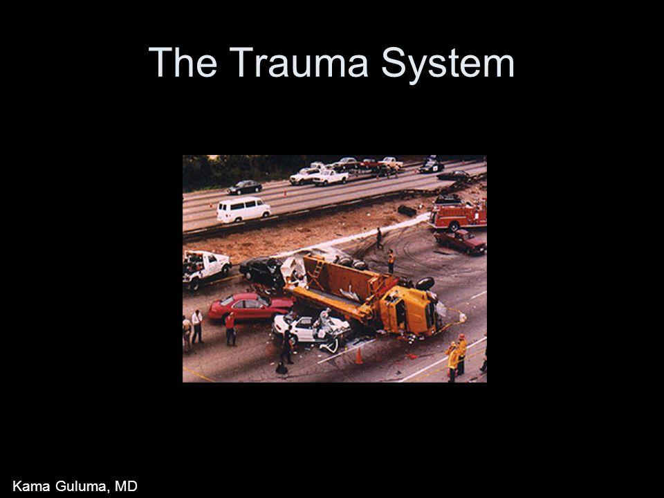 The Trauma System Kama Guluma, MD