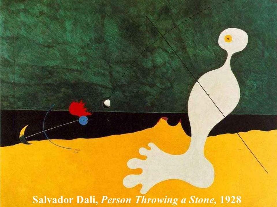 Salvador Dali, Person Throwing a Stone, 1928