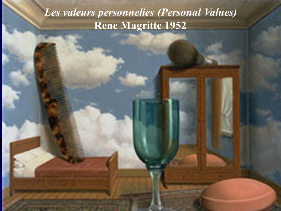 Les valeurs personnelies (Personal Values) Rene Magritte 1952