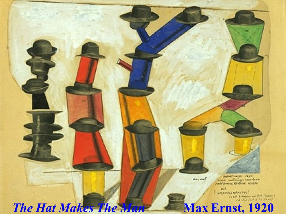 The Hat Makes The Man Max Ernst, 1920
