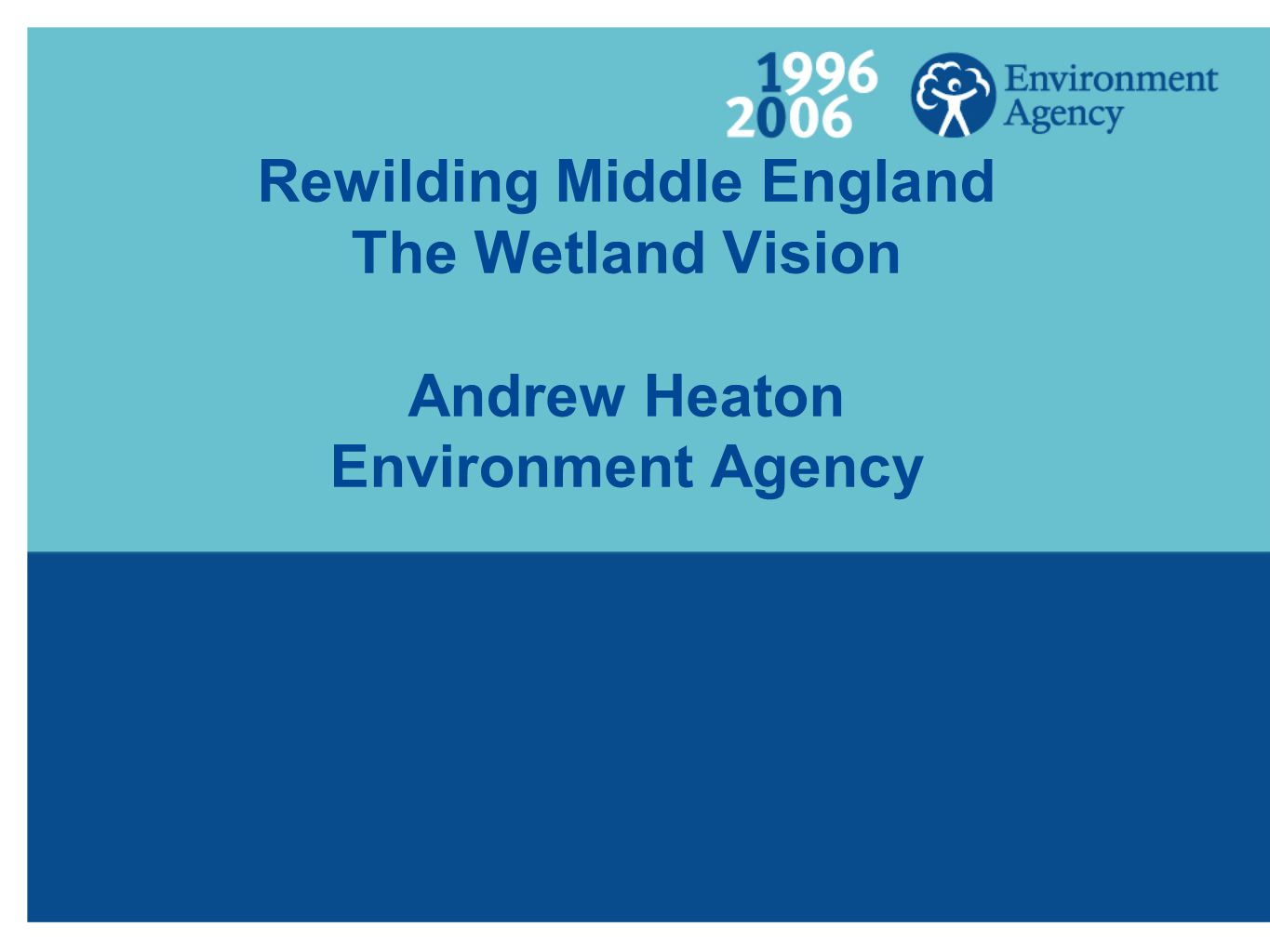 Rewilding Middle England The Wetland Vision Andrew Heaton Environment Agency